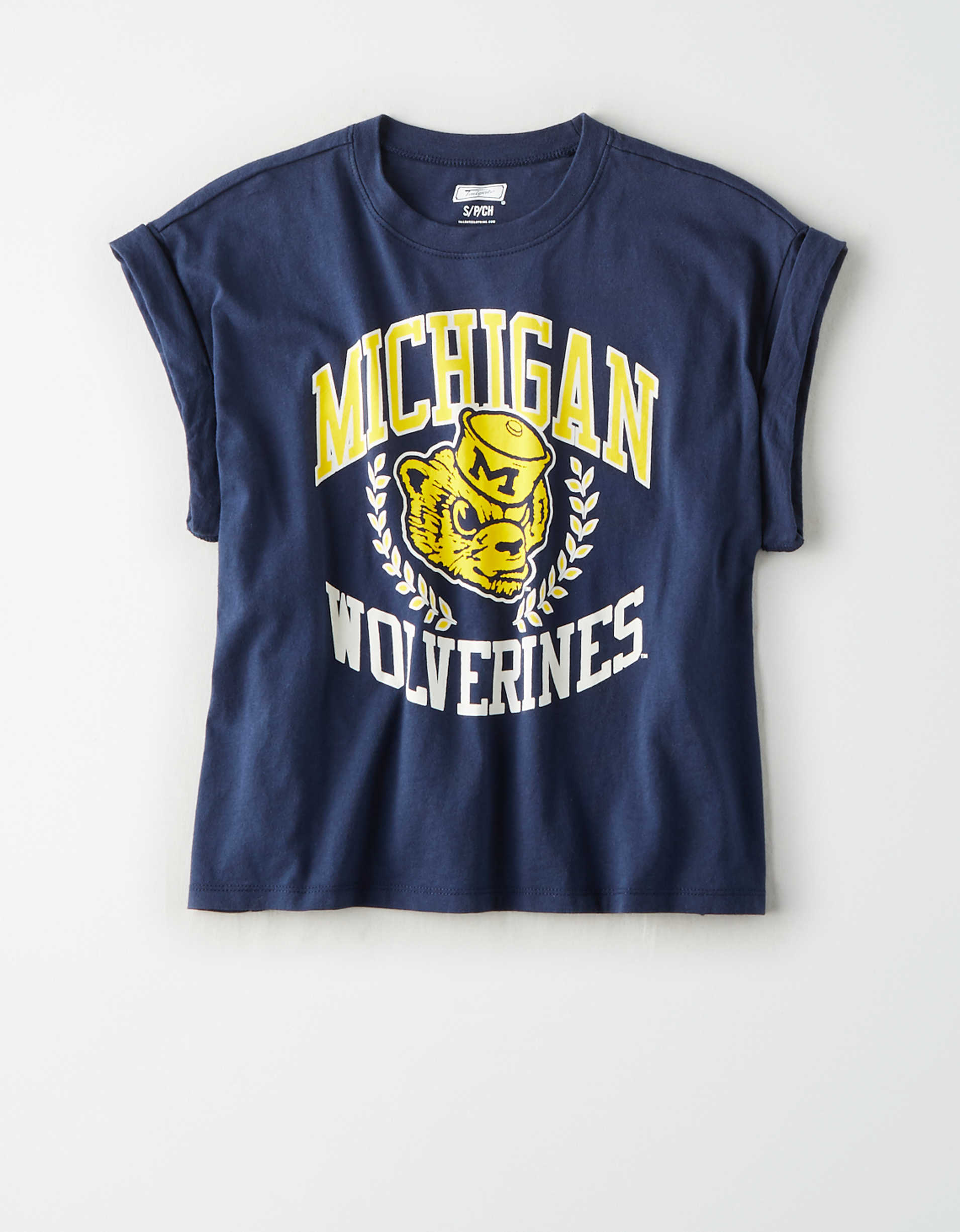 Tailgate Women's Michigan Wolverines Rolled Sleeve T-Shirt