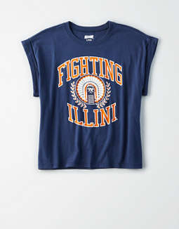 Tailgate Women's Illinois Rolled Sleeve T-Shirt