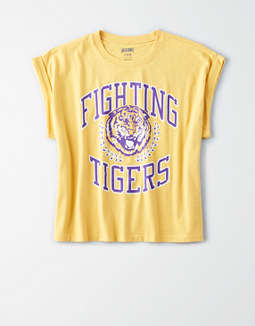 Tailgate Women's LSU Tigers Rolled Sleeve T-Shirt