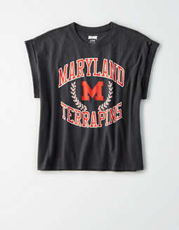 Tailgate Women's Maryland Terrapins Rolled Sleeve T-Shirt
