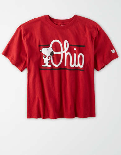 Tailgate x Peanuts Women's Ohio State Cropped T-Shirt