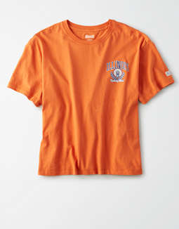 Tailgate Women's Illinois Fighting Illini Cropped T-Shirt