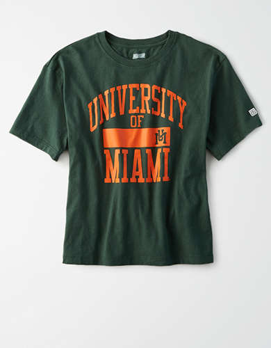 Tailgate Women's Miami Hurricanes Cropped T-Shirt
