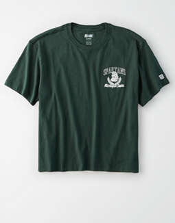 Tailgate Women's Michigan State Spartans Cropped T-Shirt