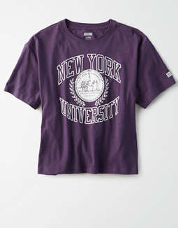 Tailgate Women's NYU Violets Cropped T-Shirt