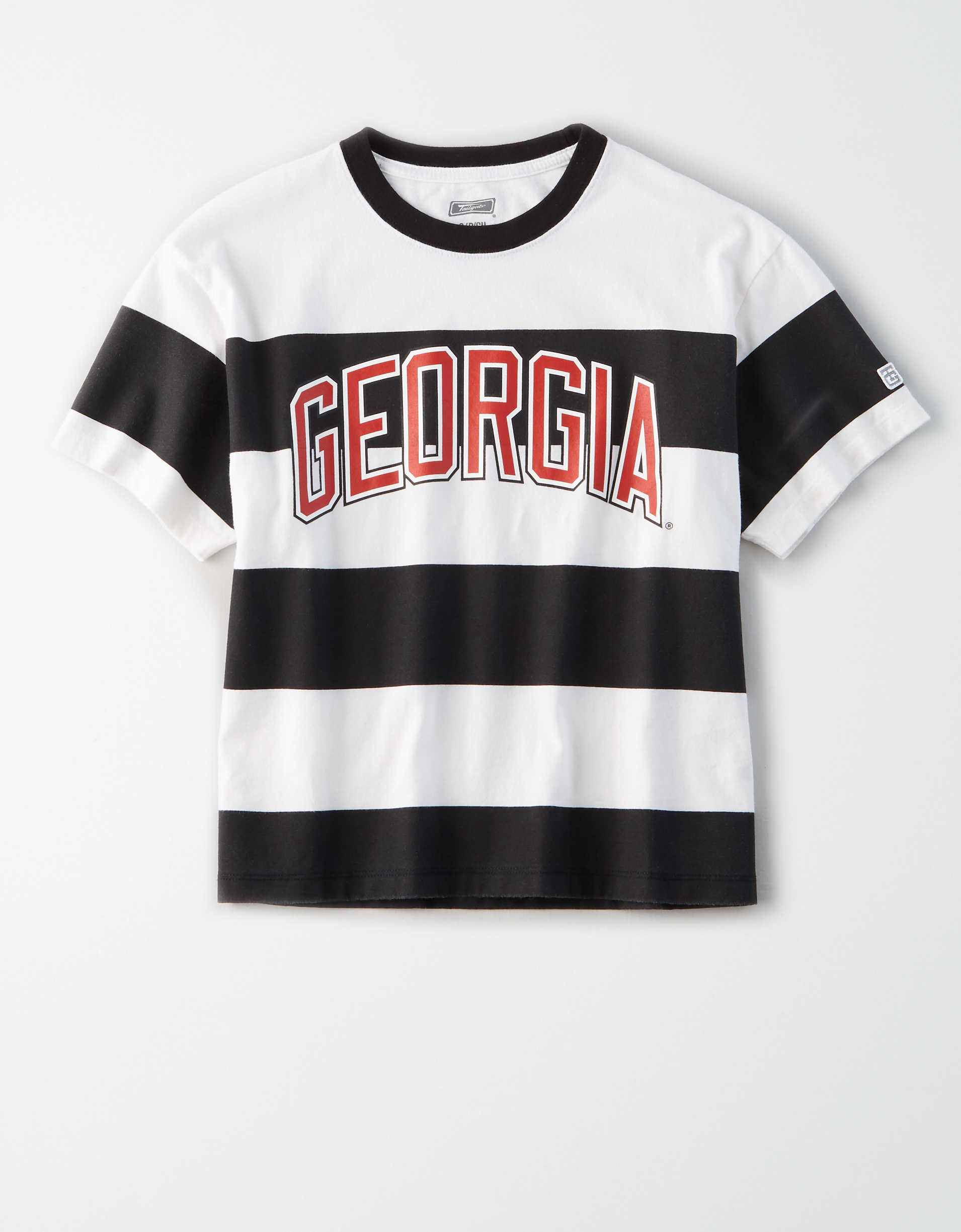 Tailgate Women's Georgia Bulldogs Striped T-Shirt