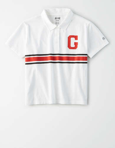 Tailgate Women's Georgia Bulldogs Cropped Polo