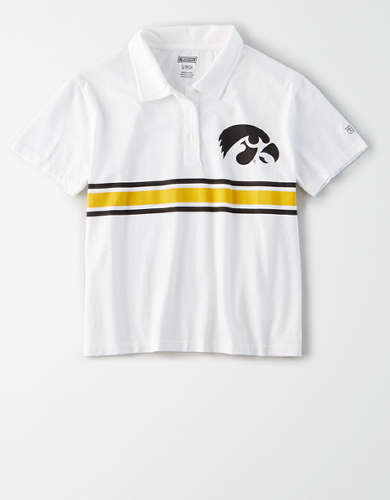 Tailgate Women's Iowa Hawkeyes Cropped Polo