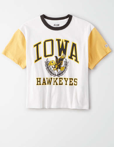 Tailgate Women's Iowa Hawkeyes Cropped T-Shirt
