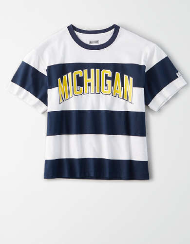Tailgate Women's Michigan Wolverines Striped T-Shirt