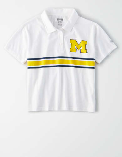 Tailgate Women's Michigan Wolverines Cropped Polo