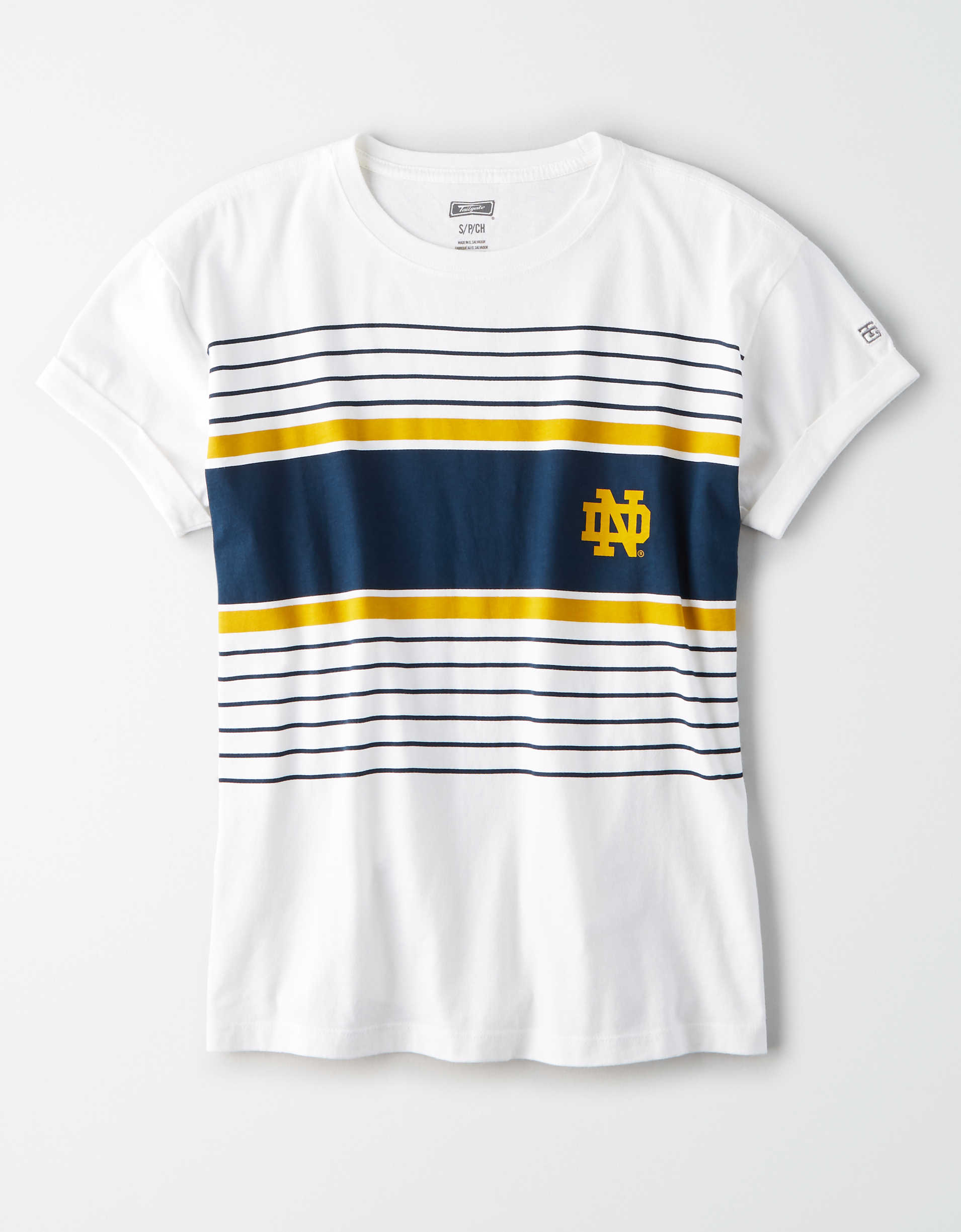 Tailgate Women's Notre Dame Irish Rolled Sleeve T-Shirt