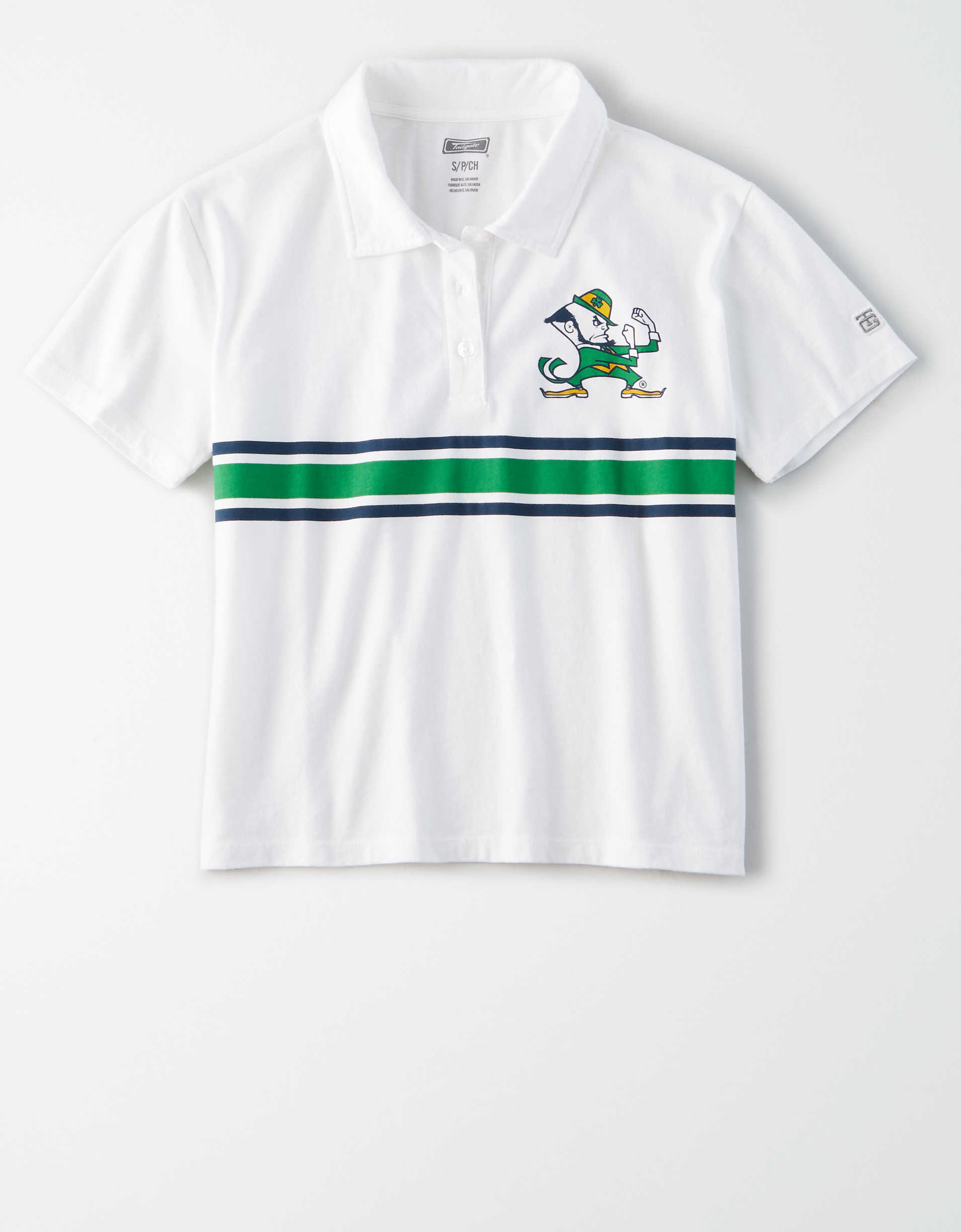 Tailgate Women's Notre Dame Fighting Irish Cropped Polo