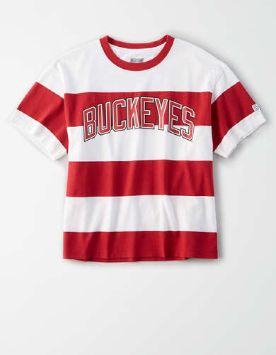 Tailgate Women's OSU Buckeyes Striped T-Shirt