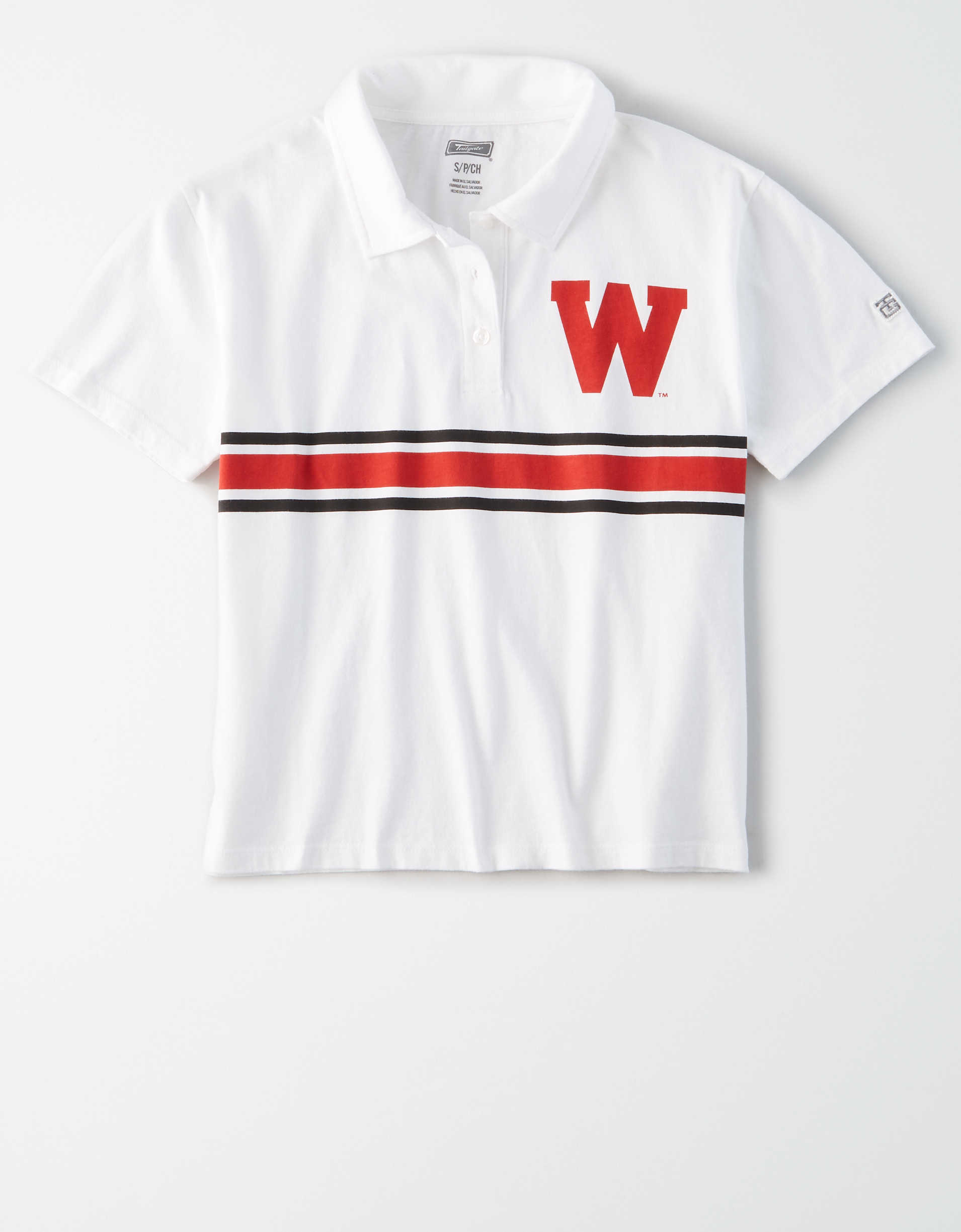 Tailgate Women's Wisconsin Badgers Cropped Polo