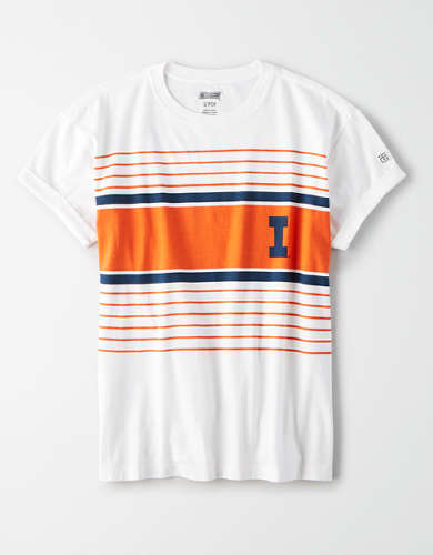 Tailgate Women's Illinois Fighting Illini Rolled Sleeve T-Shirt