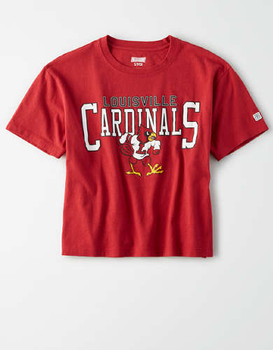 Tailgate Women's Louisville Cardinals Cropped T-Shirt