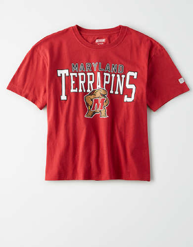 Tailgate Women's Maryland Terrapins Cropped T-Shirt