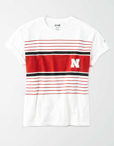 Tailgate Women's Nebraska Rolled Sleeve T-Shirt