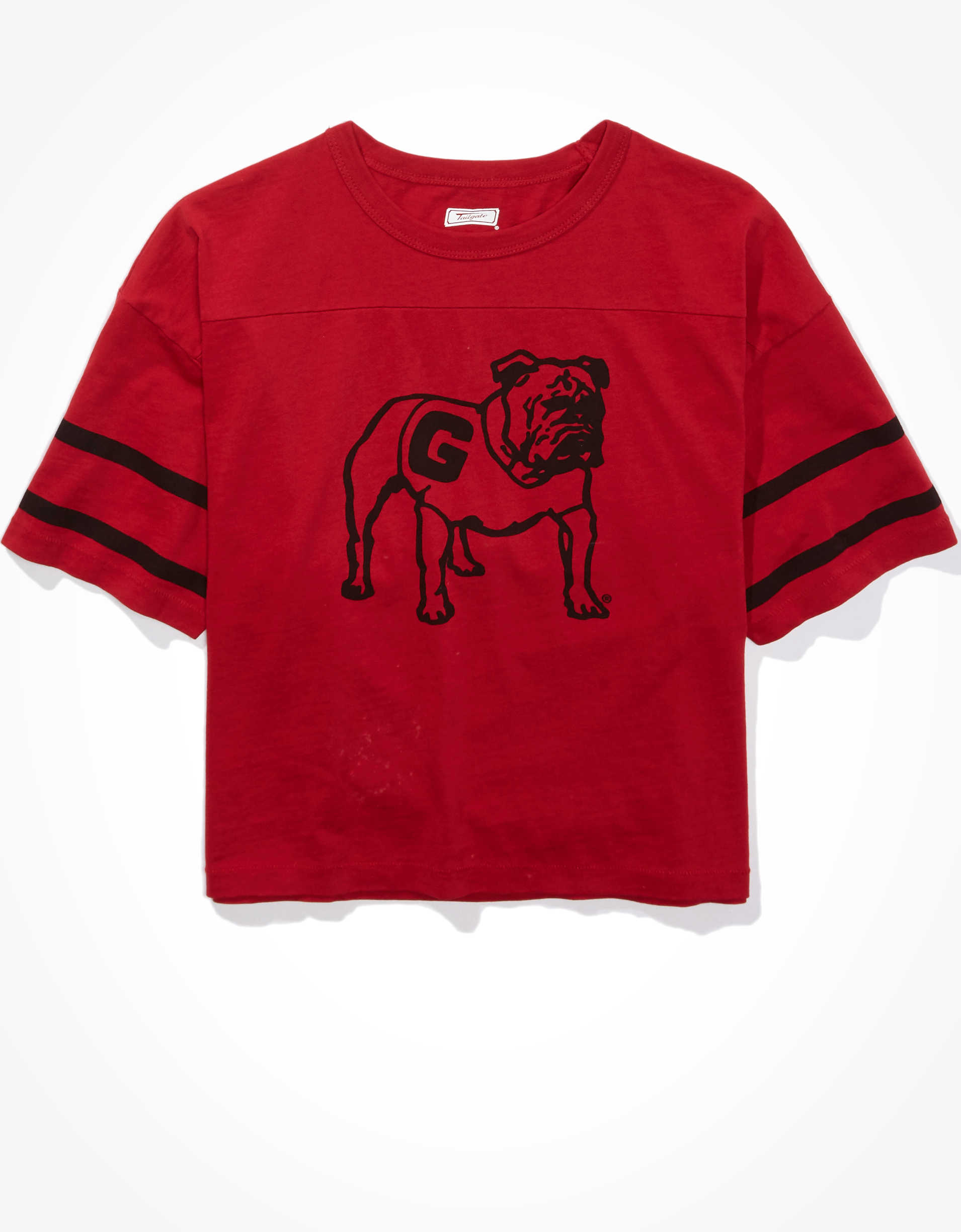 Tailgate Women's Georgia Bulldogs Cropped T-Shirt