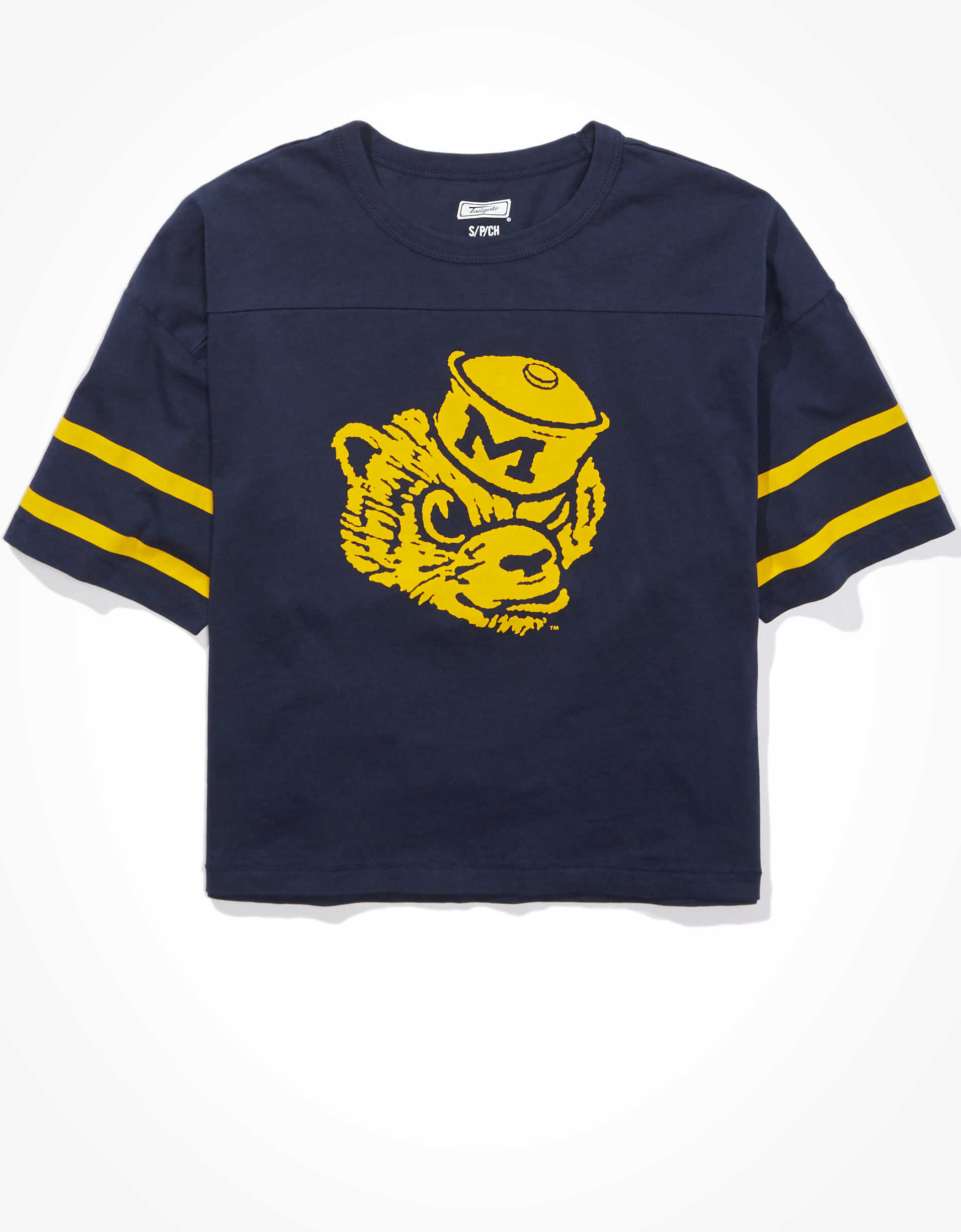 Tailgate Women's Michigan Wolverines Cropped T-Shirt
