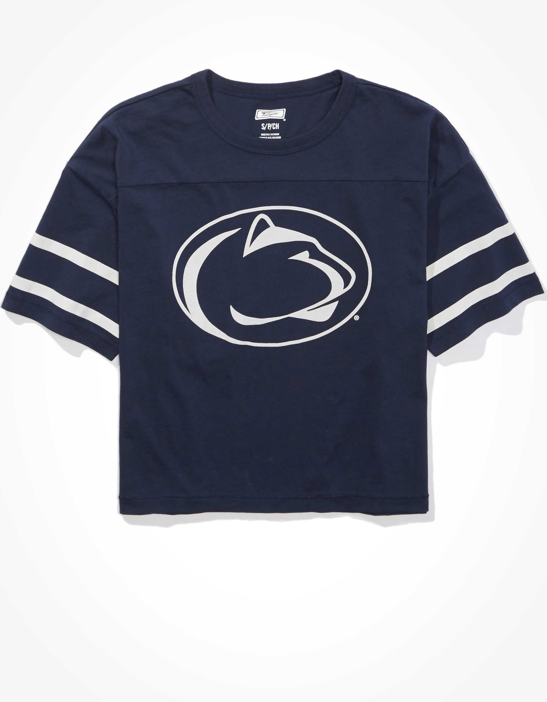 Tailgate Women's Penn State Cropped T-Shirt