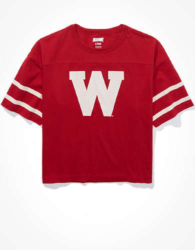 Tailgate Women's Wisconsin Badgers Cropped T-Shirt