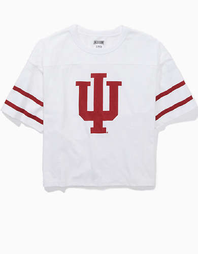 Tailgate Women's Indiana Hoosiers Cropped T-Shirt