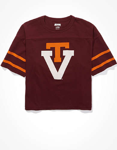 Tailgate Women's Virginia Tech Hokies Cropped T-Shirt