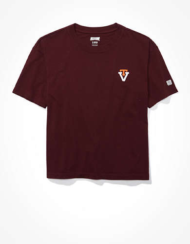 Tailgate Women's Virginia Tech Cropped T-Shirt
