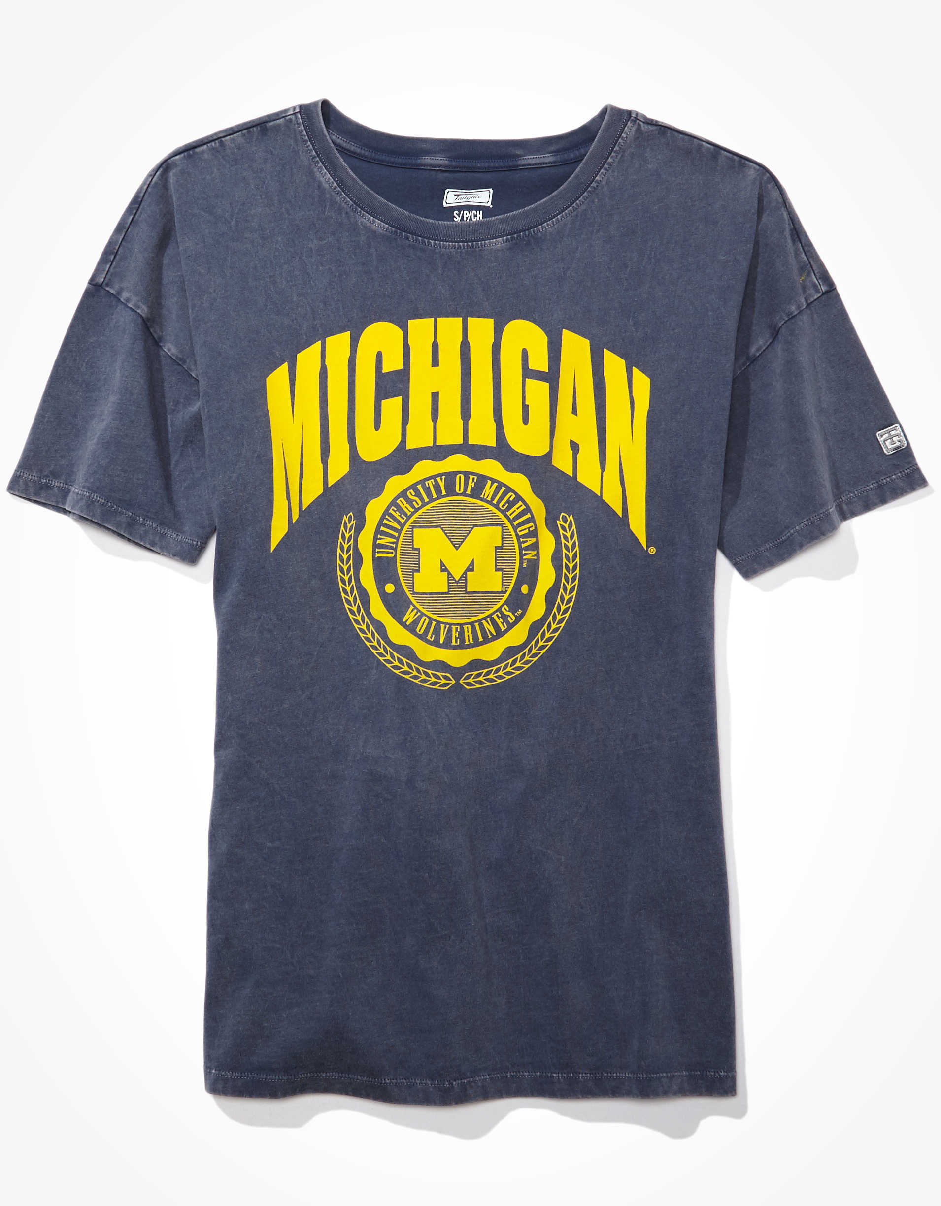 Tailgate Women's Michigan Wolverines Oversized T-Shirt