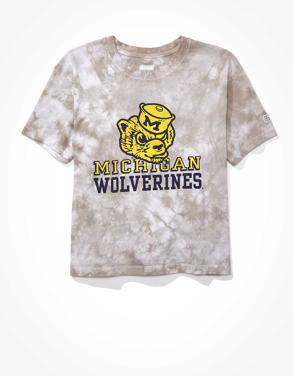 Tailgate Women's Michigan Wolverines Tie-Dye T-Shirt