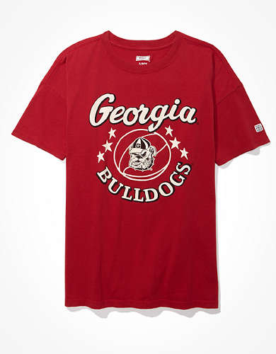 Tailgate Women's UGA Bulldogs Oversized Graphic T-Shirt