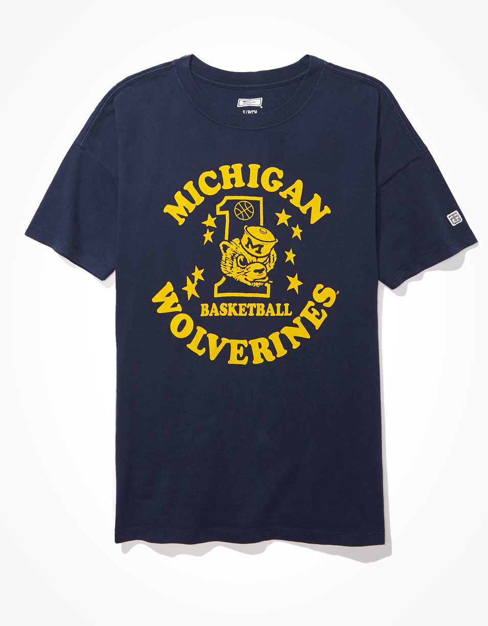 Tailgate Women's Michigan Wolverines Oversized Graphic T-Shirt