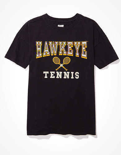 Tailgate Women's Iowa Hawkeyes Tennis Graphic T-Shirt
