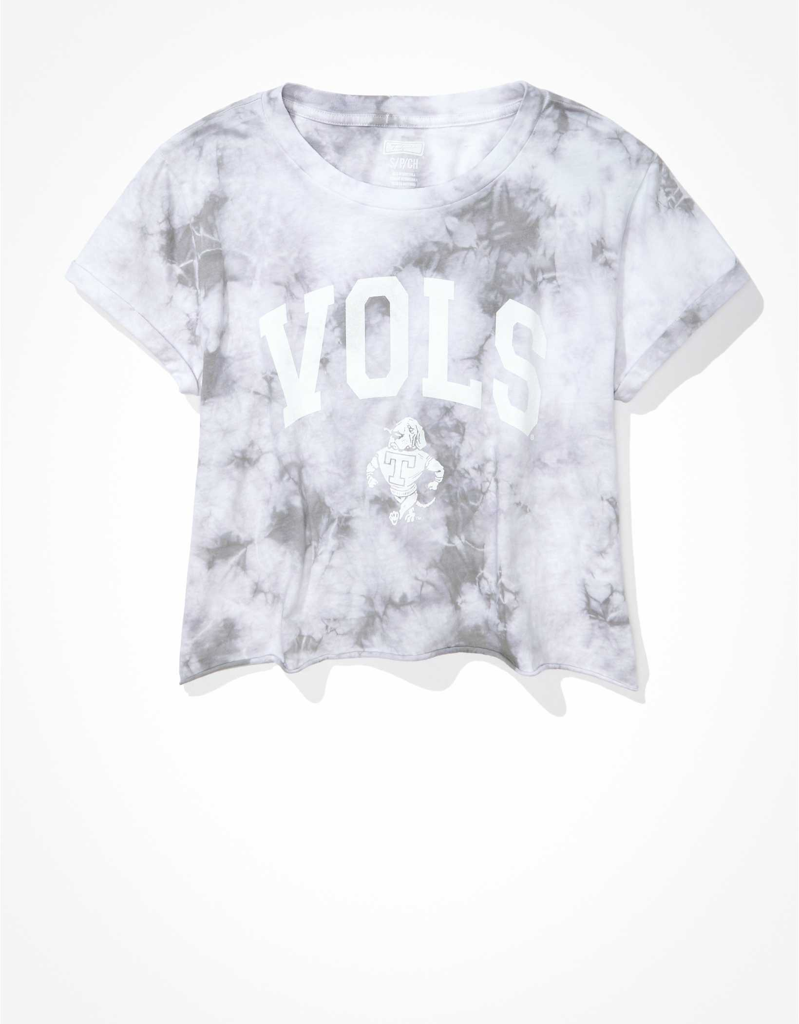 Tailgate Women's Tennessee Vols Cropped Tie-Dye T-Shirt
