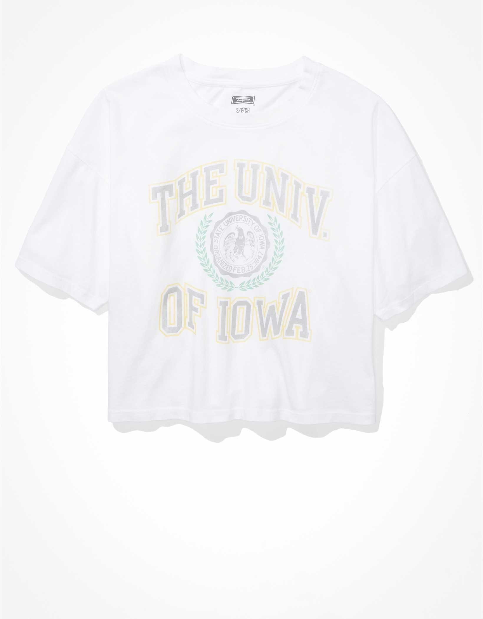 Tailgate Women's Iowa Hawkeyes Cropped Graphic T-Shirt