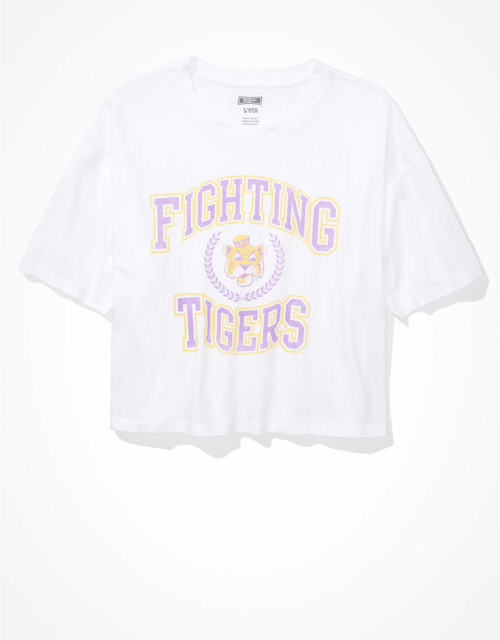 Tailgate Women's LSU Tigers Cropped Graphic T-Shirt