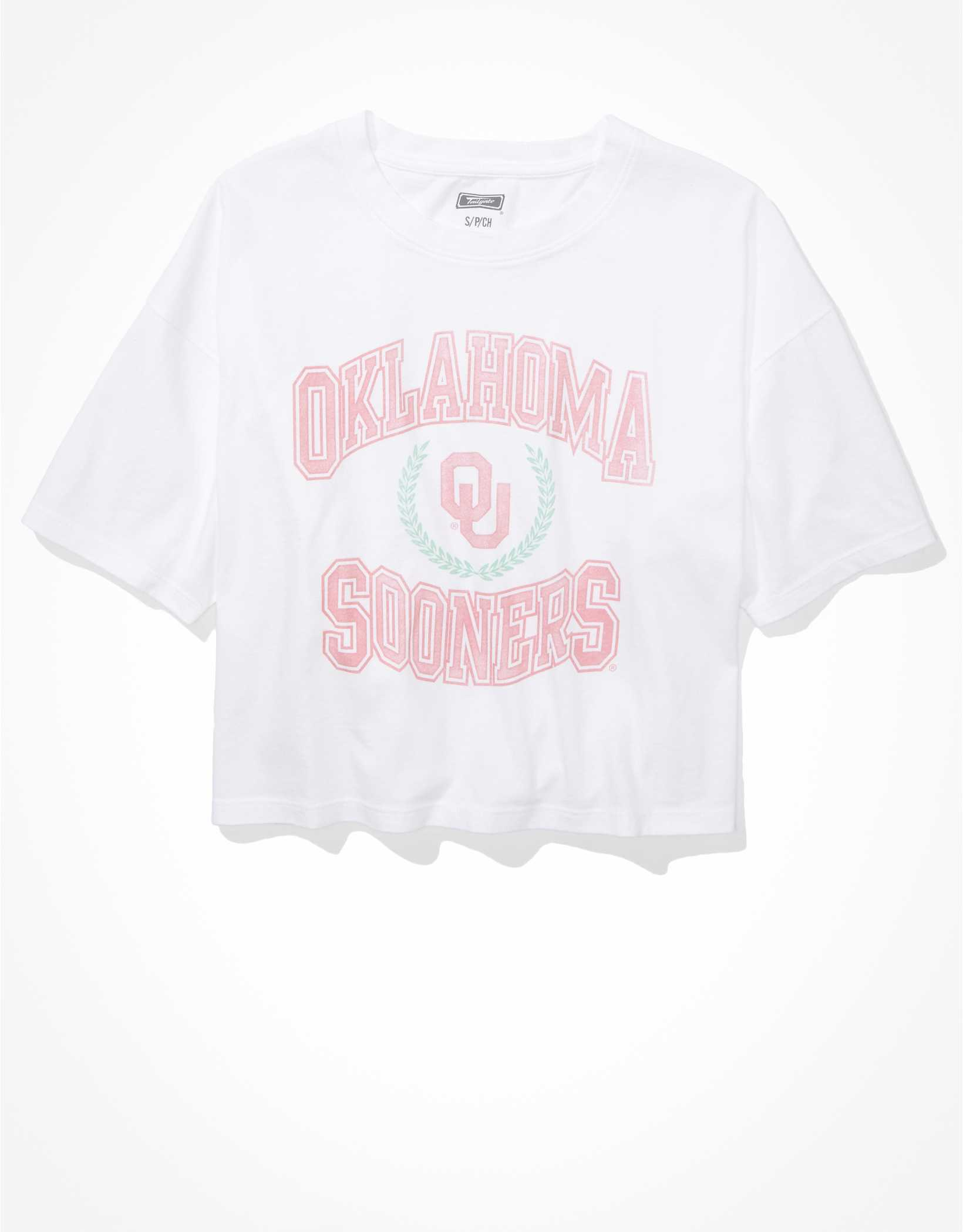 Tailgate Women's Oklahoma Sooners Cropped Graphic T-Shirt