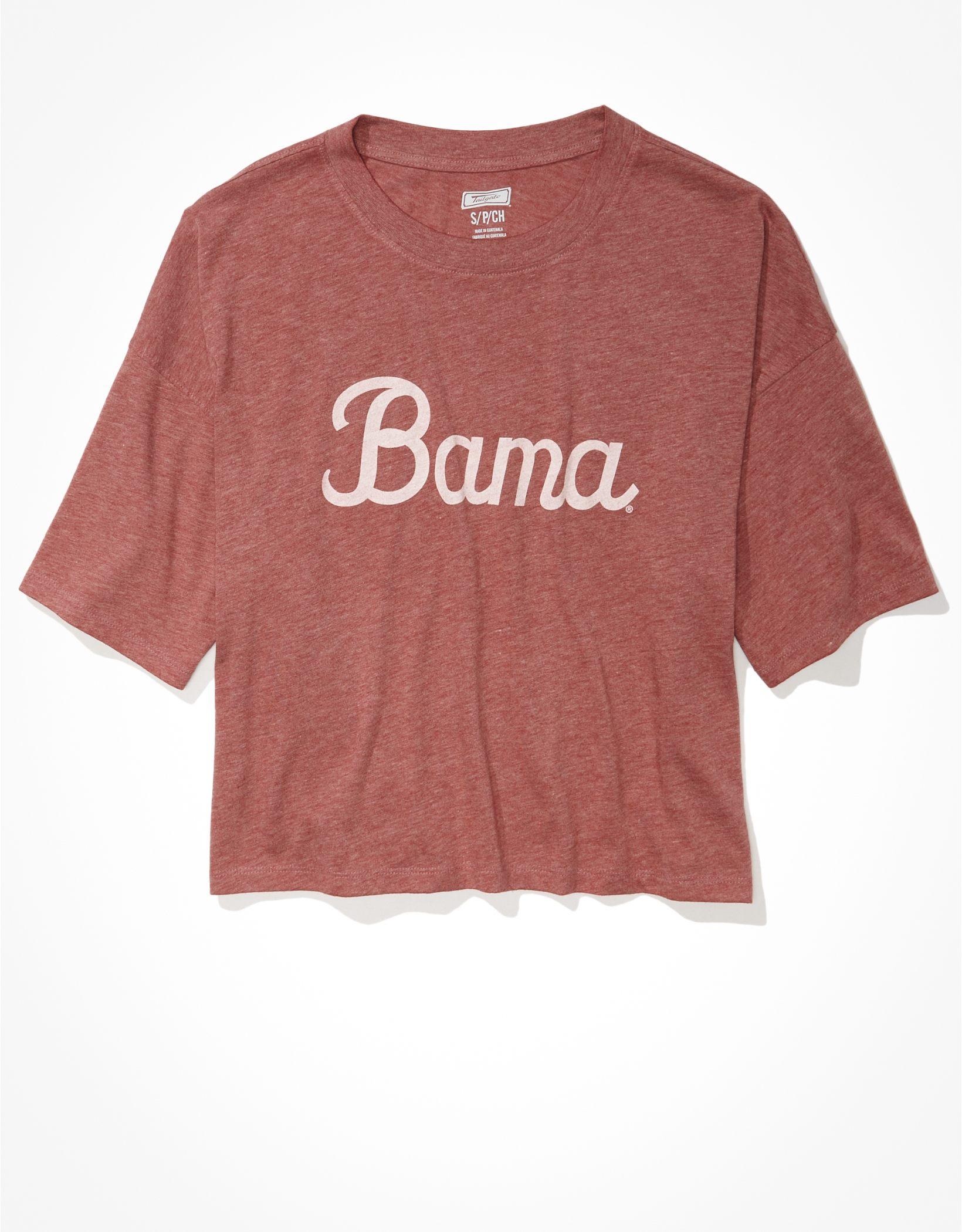 Tailgate Women's Alabama Crimson Tide Cropped Graphic T-Shirt