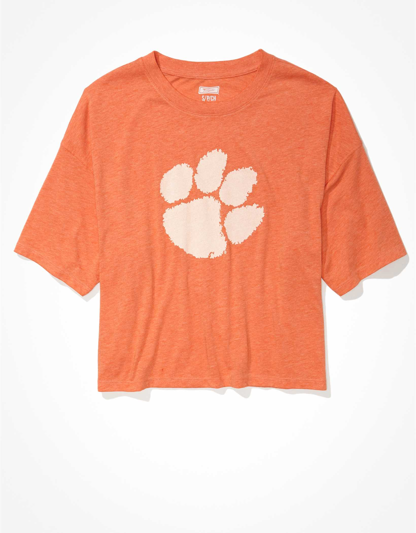 Tailgate Women's Clemson Tigers Cropped Graphic T-Shirt