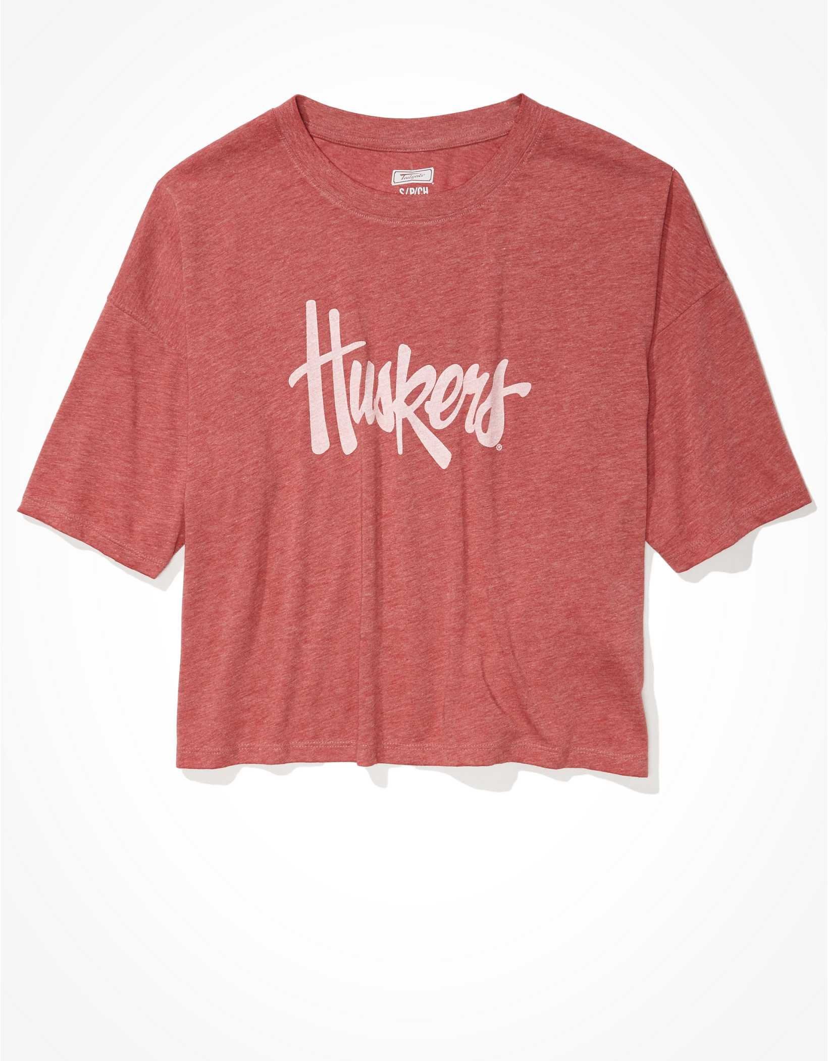 Tailgate Women's Nebraska Cornhuskers Cropped Graphic T-Shirt