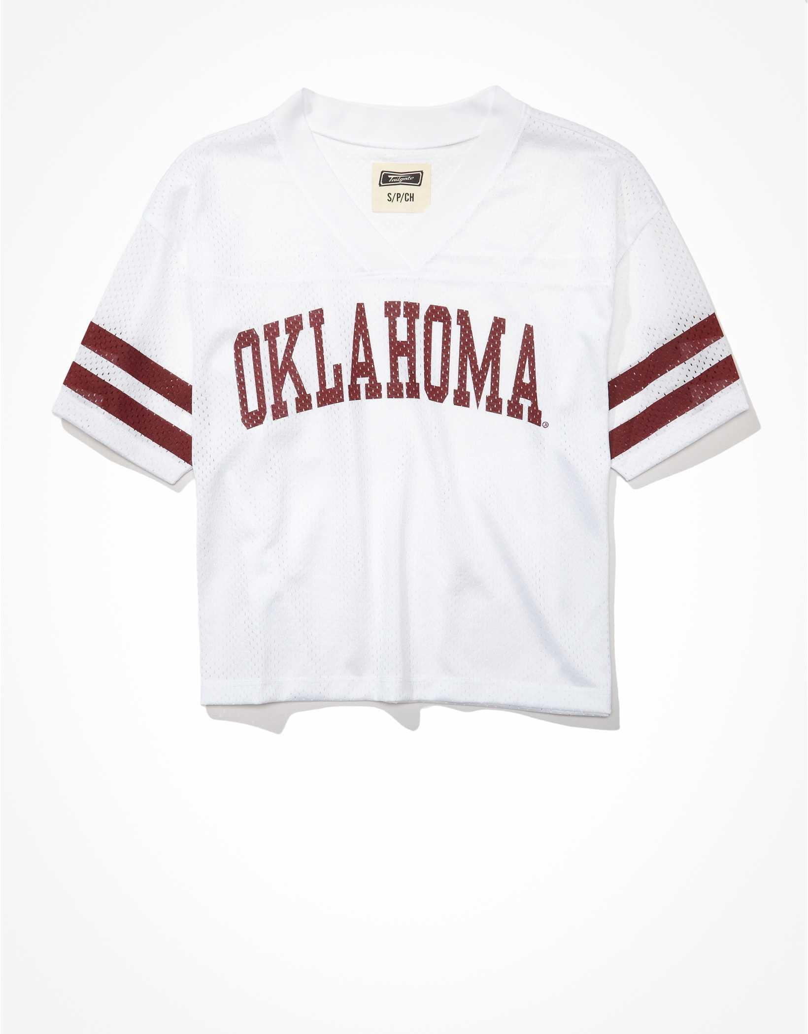 Tailgate Women's Oklahoma Sooners Cropped Mesh Jersey