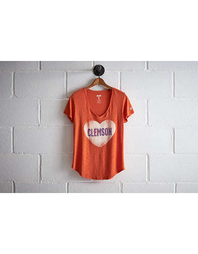 Tailgate Women's Clemson V-Neck - Free Returns