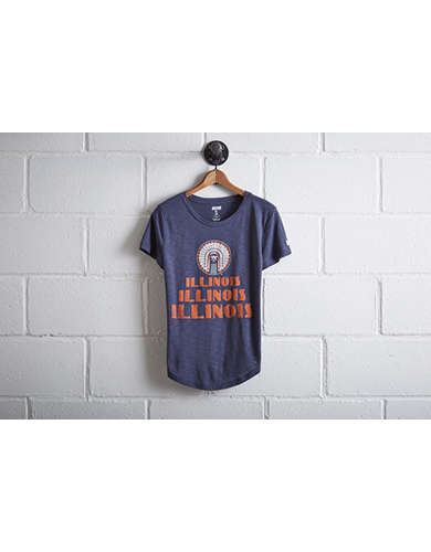Tailgate Women's Illinois Fighting Illini T-Shirt - Free Returns