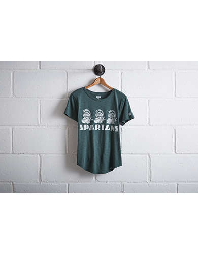 Tailgate Women's Michigan State Spartans T-Shirt - Free Returns