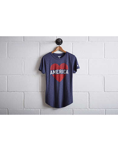 Tailgate Women's Heart America T-Shirt - Free Returns