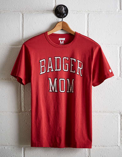 Tailgate Women's Wisconsin Badger Mom T-Shirt - Free Returns
