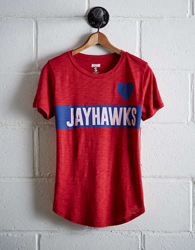 Tailgate Women's Kansas Heart T-Shirt - Free Returns