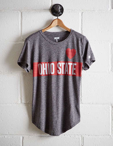 Tailgate Women's Ohio State Heart T-Shirt - Free Returns